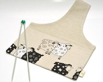 LARGE Project Bag SHEEP. Special KnitterBag design. Work In Progress Bag Project Holder Organizer Gift For Knitter WIP Bag