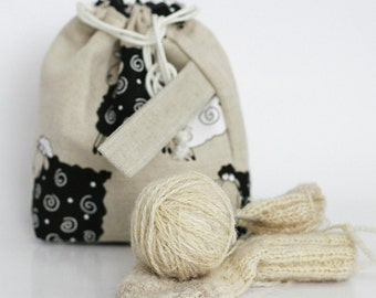 Knitting Project MINI Bag. LUCKY Sheep.... Special KnitterBag design.