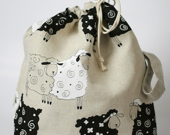 LARGE Project Bag. LUCKY SHEEP.