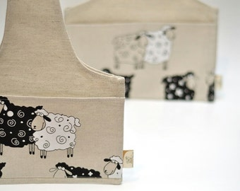 Knitter MINI Project Bag Lucky Sheep. Great bag for socks knitters.