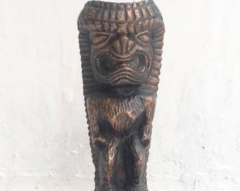 Vintage Hawaii Souvenir Copper Tiki Statue