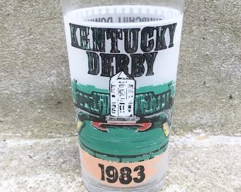 Vintage 1983 Kentucky Derby Glass - 2 in stock