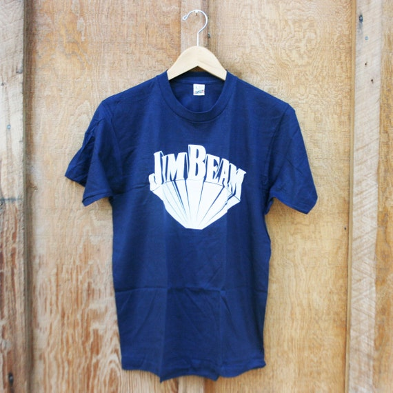 retro jim beam t shirt new old stock medium etsy