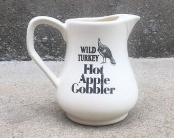Vintage 1988 Wild Turkey Bourbon Pitcher