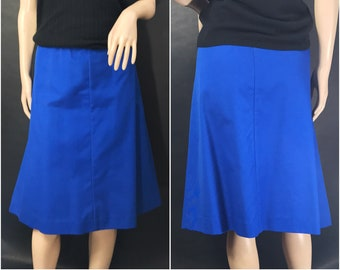 Vintage Koret Blue A Line Skirt // Vintage Bold Blue Skirt