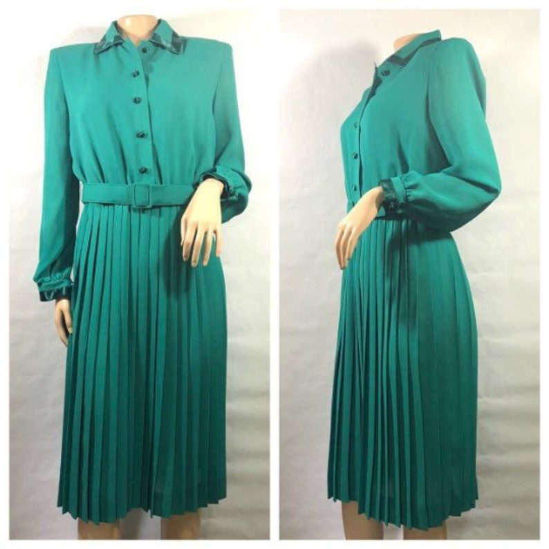 Green Henry Lee Petites Classic Shirt Dress with Satin image 0