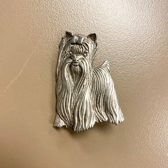 Hammered Pewter Cute Dog standing Up covered jewelry dish trinket