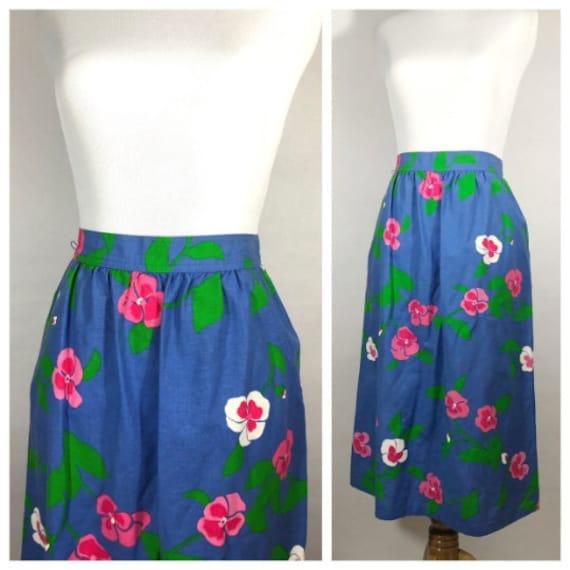 Blue Floral Malia Honolulu Skirt // Blue Floral Ha