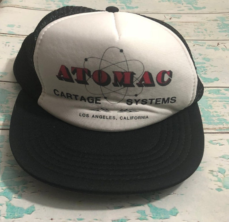 Vintage 1980s Trucker Hat from Atomac Cartage Systems Los image 0