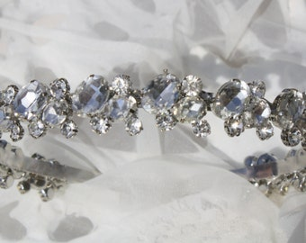 Headband Bridal- Bridal Headband - Rhinestones Headband--Bridesmaid Headband- Flower Girl Headband- Prom Headband