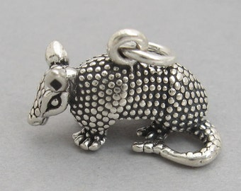 Squelette massif sterling silver 925 Charm Pendentif 3D Halloween 3864
