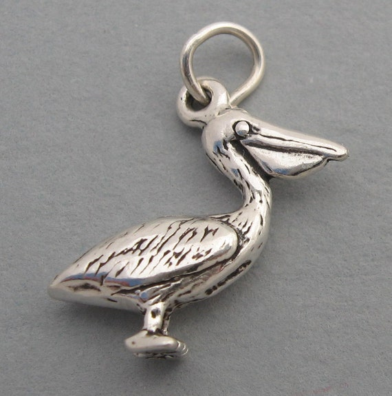 Beautiful Sterling silver 925 sterling Sterling Silver Pelican Charm