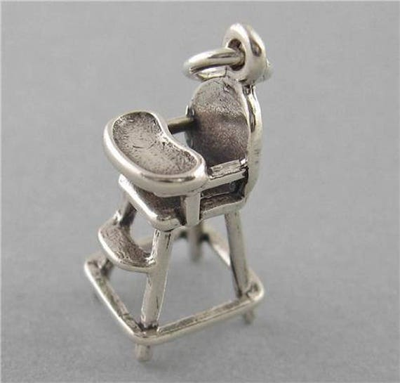 Dental Chair Dentist 3D .925 Solid Sterling Silver Charm MADE IN USA