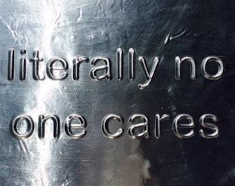 literally no one cares