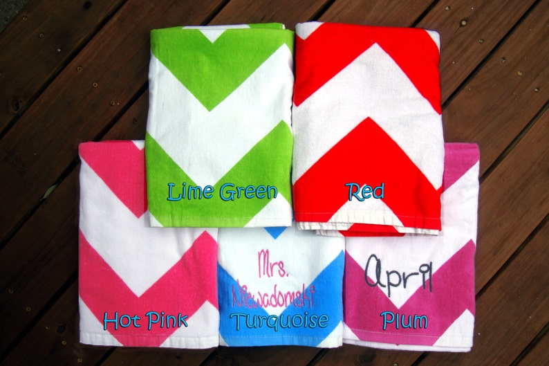 Bulk Price 10 Personalized Beach Towels In 11 Colors For Kids Etsy