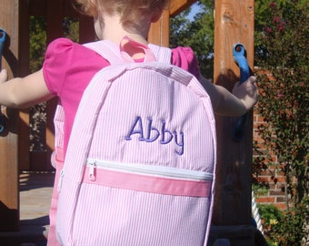 Personalized Children's Backpack or Rucksack Embroidered for Girls Gits or Boys Gifts Baby Shower Gift
