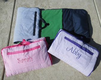 Personalized Nap Mat Large Size Including Blanket, Pad, and Pillow