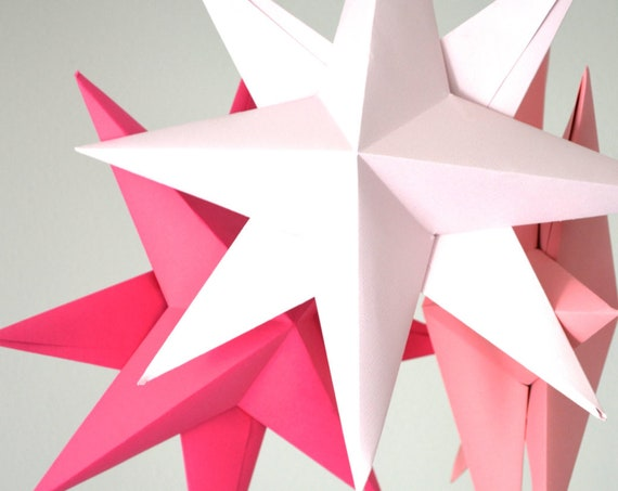 DIY Hanging Paper Star Kit - make your own large folded origami decoration