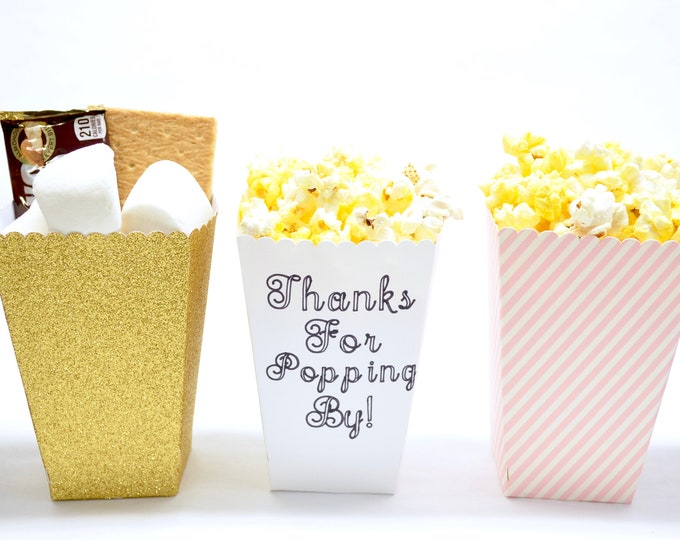 DIGITAL DOWNLOAD - Popcorn, Snack, or Candy Box - Svg file and Instruction PDF Included. Designed for Cricut. Add your own text in Cricut!