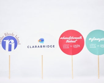 Custom Logo Cupcake Toppers - From 50 topper to 5000+ toppers, we can help your brand stand out! Perfect for any company or school event.