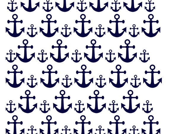 DIGITAl DOWNLOAD Multiple Sized Navy Blue Anchors - Pdf and Jpeg files included. Use for birthday decorations, weddings, or invitations.