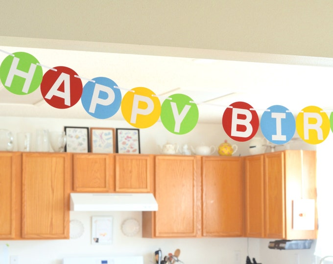 Large Happy Birthday Banner with customizable colors!