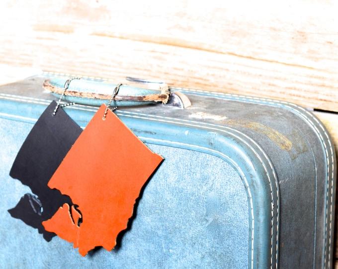 Washington Silhouette Luggage Tag