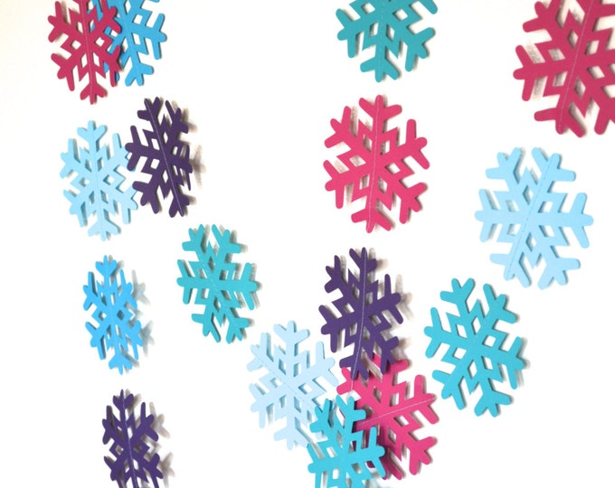 Anna's Frozen Snowflake Garland - extra large snowflake banner, 10 feet long