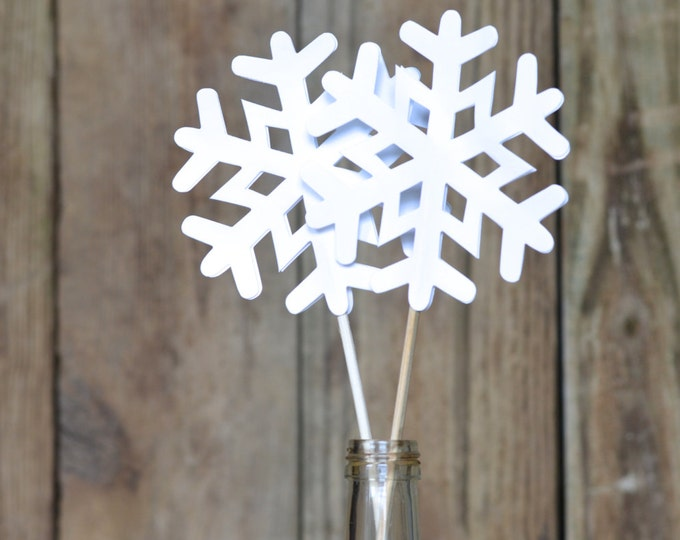 Frozen Snowflake Pie Topper, cake topper or wand