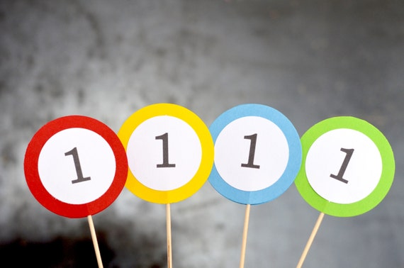 Birthday Number Cupcake Toppers - Choose any number from 1 to 101!
