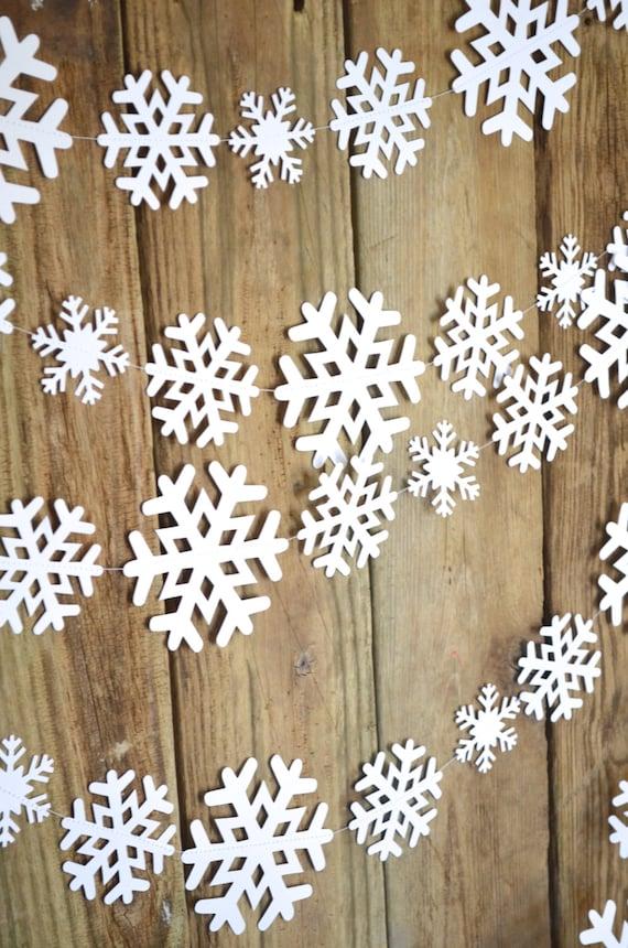 Winter Snowflake Garland - frozen snowflake banner