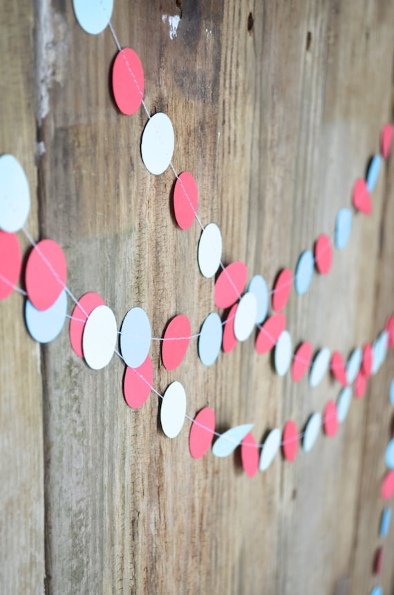10ft Customizable Multi Colored Circles Garland - 1 inch wide circles you can customize in the colors of your choice!
