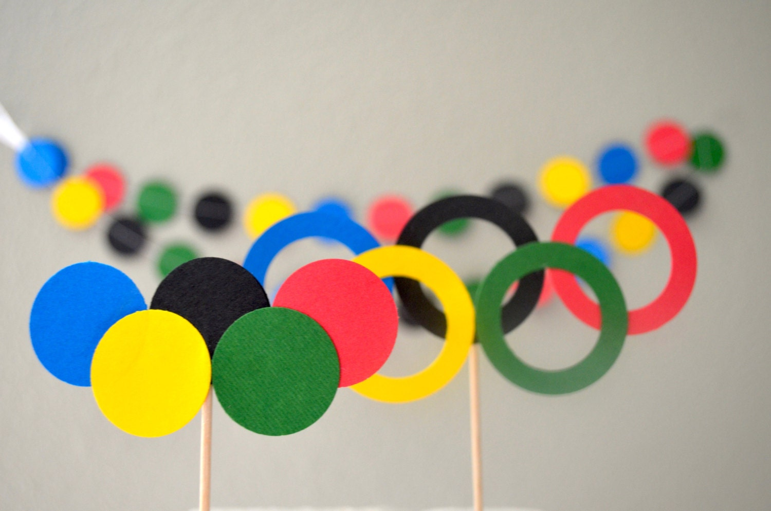 Olympic Rings Cupcake Or Cake Toppers Perfect For School