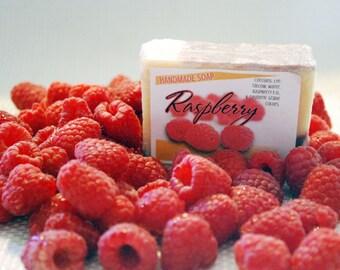 Handmade Raspberry Soap