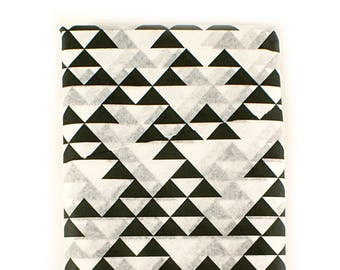 24 sheets of Tissue Paper -  modern black triangle design on white - 15 x 20 inch 100% recycled Tissue Paper for Packaging and Gift Wrapping