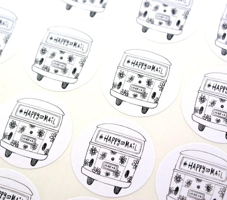 Shop Exclusive  Happy Mail & Maker VW bus Stickers  image 0