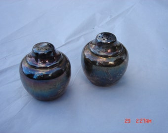 Vintage Silver Plated Salt and Pepper Shakers