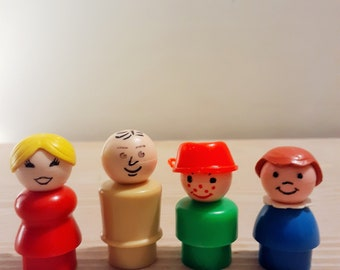 Vintage Fisher Price Family of 4