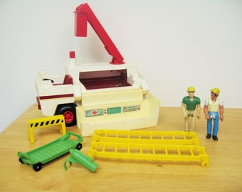 Fisher Price Adventure People Rescue Truck and Construction Workers