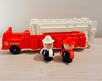Vintage Fisher Price Large Firetruck and Firemen