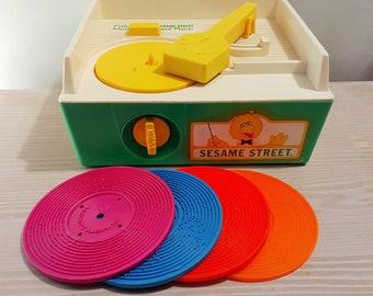 Vintage Fisher Price Sesame Street Record Player