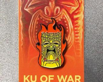 Ku Of War Soft Enamel Pin Tiki Bar Flair Art