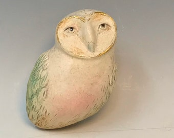 Owl sculpture by Margaret Wozniak