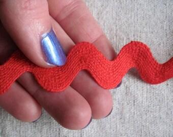 RED and Metallic Silver hET Stitch Mini RIC Rac
