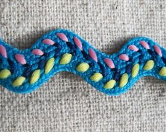 ocean Blue stitch rick rack