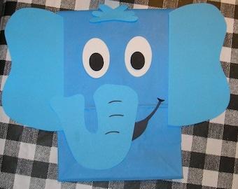 Elephant Treat Sacks - Safari Jungle Zoo Theme Birthday Party Favor Goody Bags by jettabees on Etsy