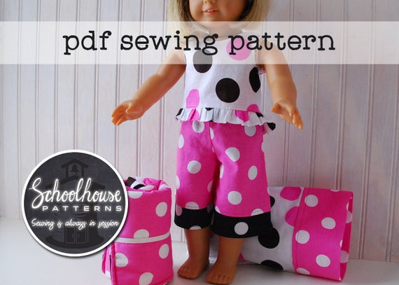 77045d3d63 18 american girl sewing pattern doll pajama pants