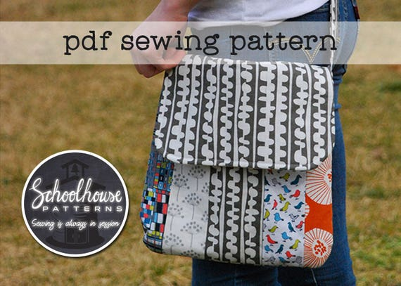 Varsity Messenger cross body bag purse sewing pattern PDF | Etsy