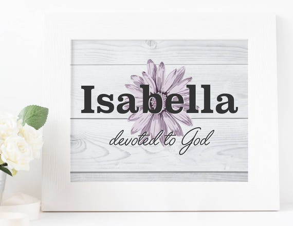 Printable Name Meaning Nursery Art Isabella 8x10 and 11x14 ...