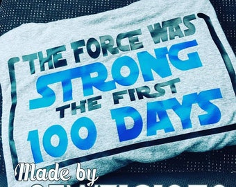 TEACHER 100th Day Tee School Force